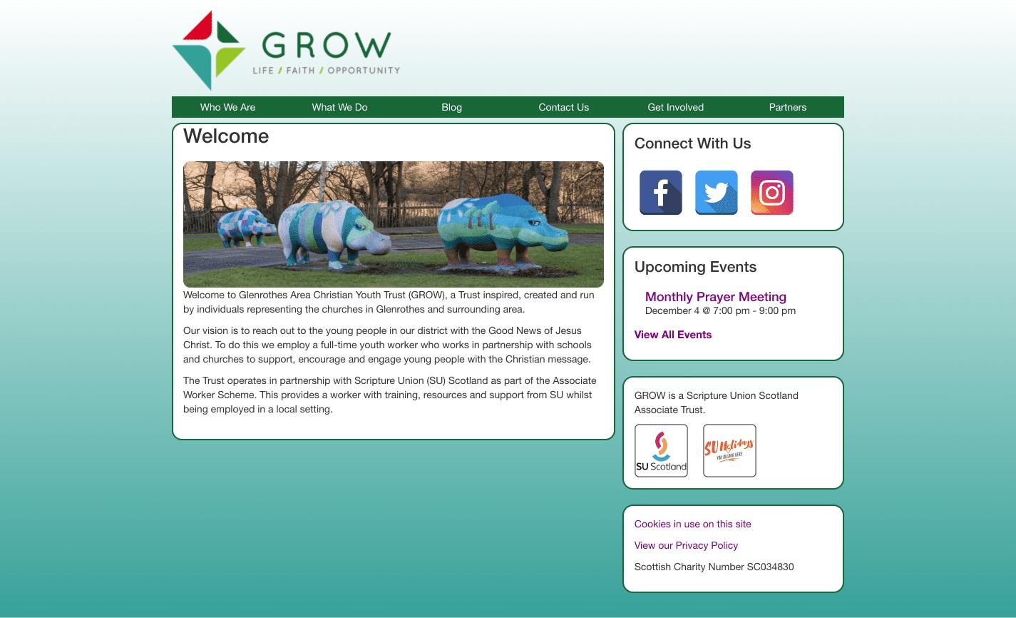 GROW Website Screenshot