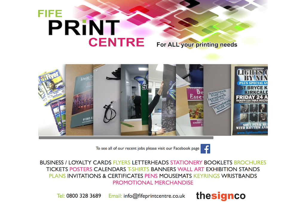 Fife Print Centre - Printers in Kirkcaldy, Printers in Fife