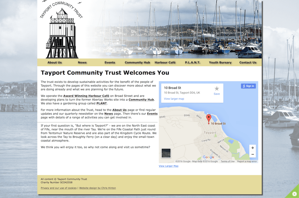 Tayport Community Trust Website
